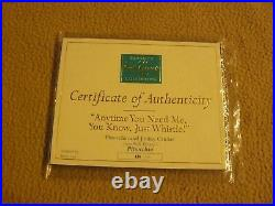 WDCC Pinocchio Jiminy Cricket Anytime You Need Me Just Whistle Figurine W COA