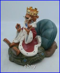 WDCC Robin Hood PREENING PRINCE + SYCOPHANTIC SERVANT Prince John & Sir Hiss