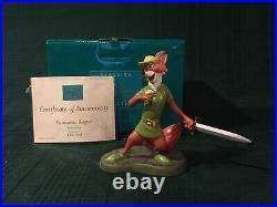 WDCC Robin Hood Romantic Rogue + Box & COA