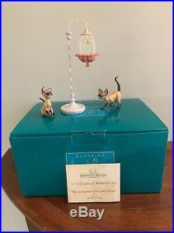 WDCC SI & AM Brand New With Box & COA Lady and the Tramp