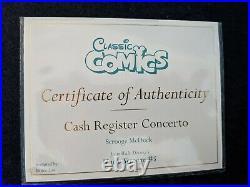 WDCC Scrooge McDuck Cash Register Concerto + Box & COA
