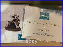 WDCC Snow White, Huntsman Deadly Intent & Heart Box with Box & COA