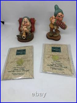 WDCC Snow White Seven Dwarf's 7 piece set With COA