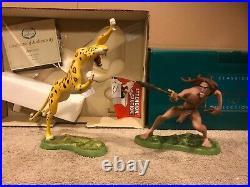 WDCC Tarzan & Sabor Untamed + Signed by Artist Box/COA