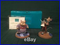 WDCC The Great Mouse Detective Basil & Dr. Watson Curious Clue + Box & COA