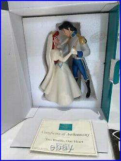 WDCC The Little Mermaid Ariel & Eric Two Worlds, One Heart + Box & COA