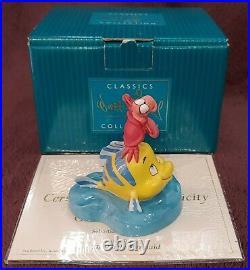 WDCC The Little Mermaid Off Shore Ovation Sebatian Flounder Disney Figurine MINT