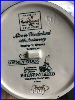 WDCC Tweedle Dee Tweedle Dum Alice in Wonderland Special Backstamp LE200 Disney