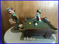 WDCC Walt Disney Classics Collections Pinocchio Pool Table FULL Collection
