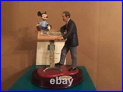 WDCC Walt Disney & Mickey Sharing the Vision + Box & COA