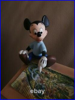 WDCC Walt Disney & Mickey mouse Sharing the Vision figurine rare porcelain base