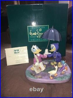 WDCC Walt Disney's Fantasia 2000 Donald & Daisy, Looks Like Rain Box, COA