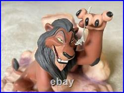 WDCC scar lion king BOX AND COA INCLUDED
