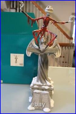 Walt Disney Classic Collections Santa Jack Skellington On Top of Angel Statue