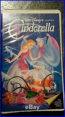 Walt Disney RARE classic Black Diamond Cinderella VHS tape (ORIGINAL RELEASE)