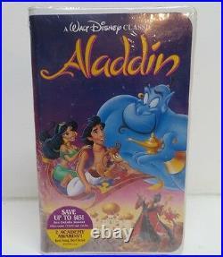 Walt Disney The Classics Black Diamond VHS Video Tape Movie Aladdin #1662