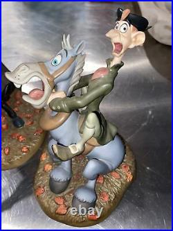 Walt Disney WDCC Headless Horseman and Ichabod Crane Figurines