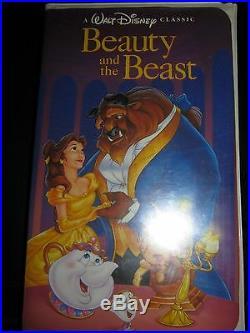 Walt Disney's Rare Beauty & the Beast Black Diamond Classic VHS Recorded 7-10-92
