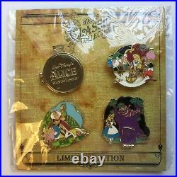 Walt's Classic Collection Alice in Wonderland 4 Pin Set Disney Pin 79457