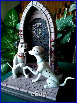 Wdcc Pongo, Perdita Wedding, Disney Figurine Going To Chapel From 101 Dalmations