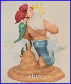 Wdcc The Little Mermaid Ariel King Triton Morning Daddy Figurine Signed + Box